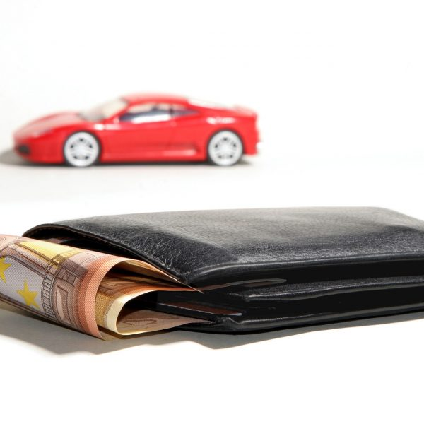 Image of a car and wallet