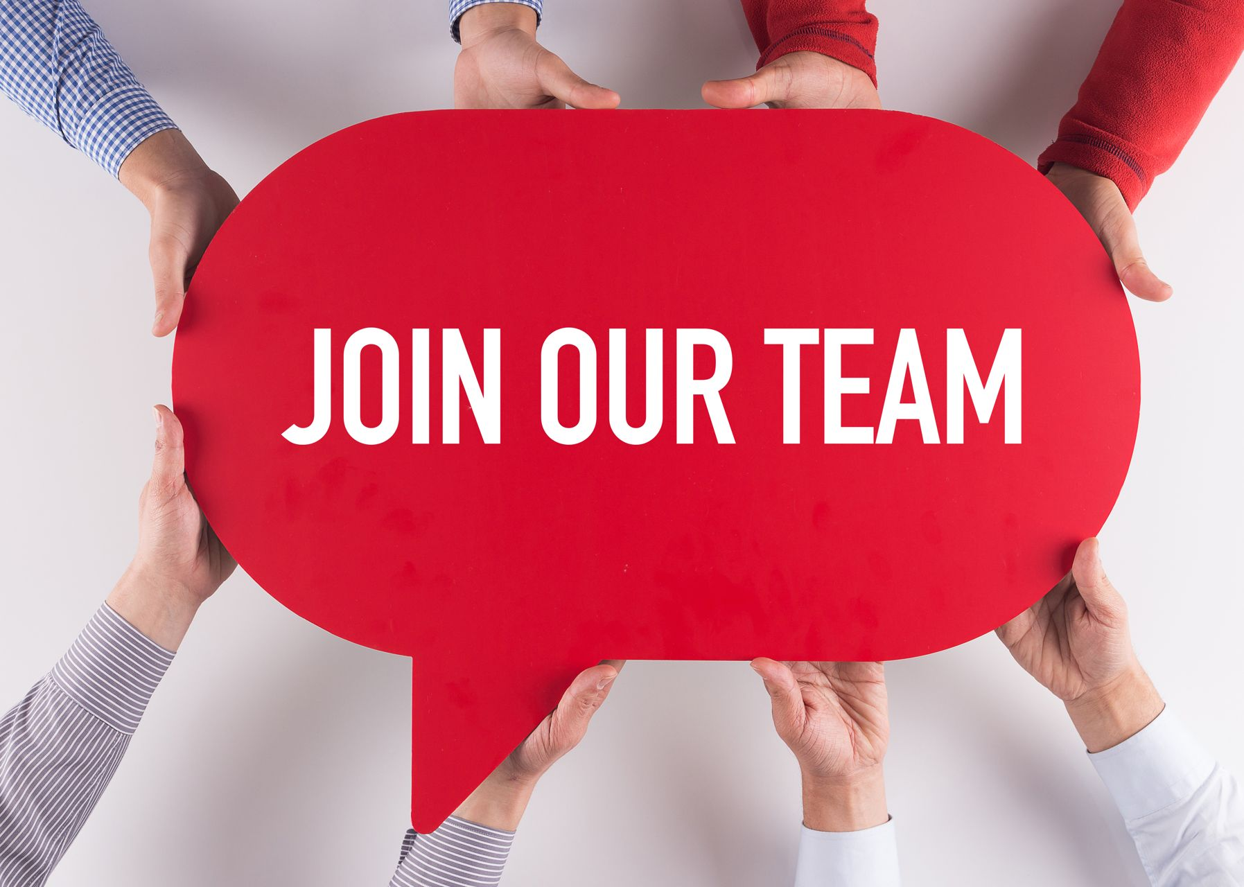 We're recruiting - join our team graphic