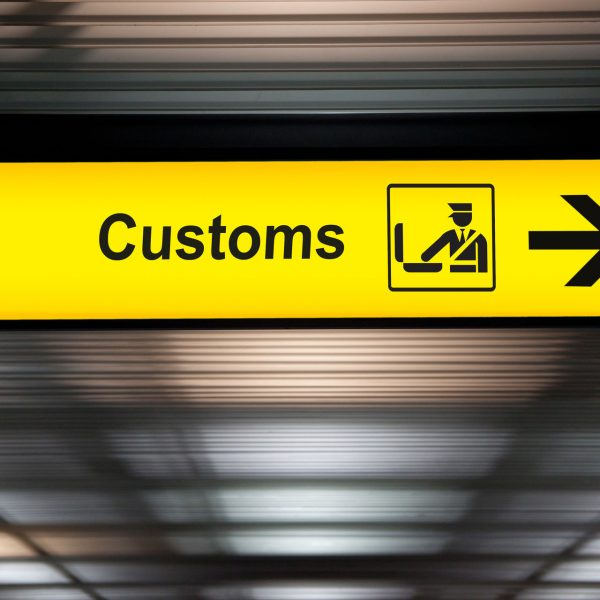 HM Customs sign